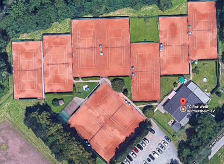 Die Tennisanlage vom TCRW Durmersheim